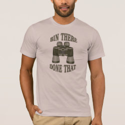 Men's Basic American Apparel T-Shirt with Bin There, Done That design