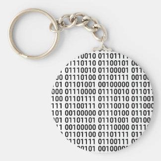 Binario: Amo programar Llavero Redondo Tipo Pin