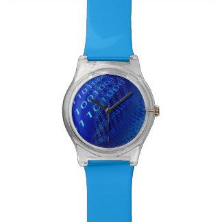 Binario azul hermoso relojes