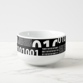 Binario en negro y blanco cuenco para sopa
