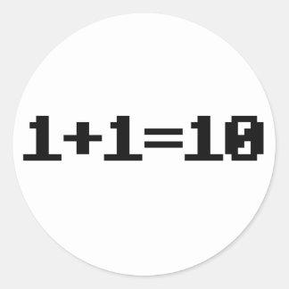 Binario Etiquetas Redondas