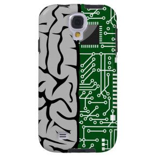 Binario que piensa el cerebro humano de alta tecno funda para galaxy s4