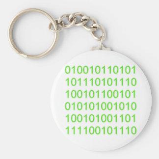Binario verde 01 - GeekShirts Llavero Redondo Tipo Pin