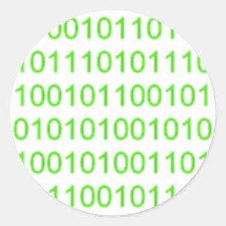 Binario verde 01 - GeekShirts Pegatinas Redondas