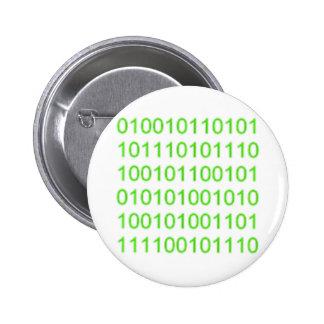 Binario verde 01 - GeekShirts Pins