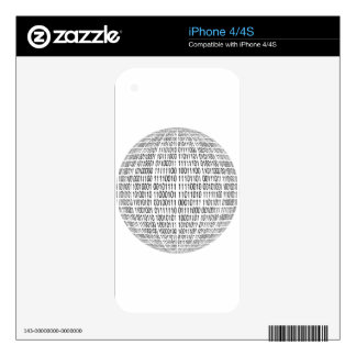 binary-1237-g decal for iPhone 4S