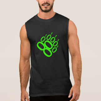 Binary Bear Pride Paw (Green) Sleeveless Shirt