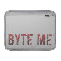 Binary Byte Me MacBook Air Sleeves