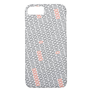 Binary Code Black with Red Highlights on any Color iPhone 7 Case