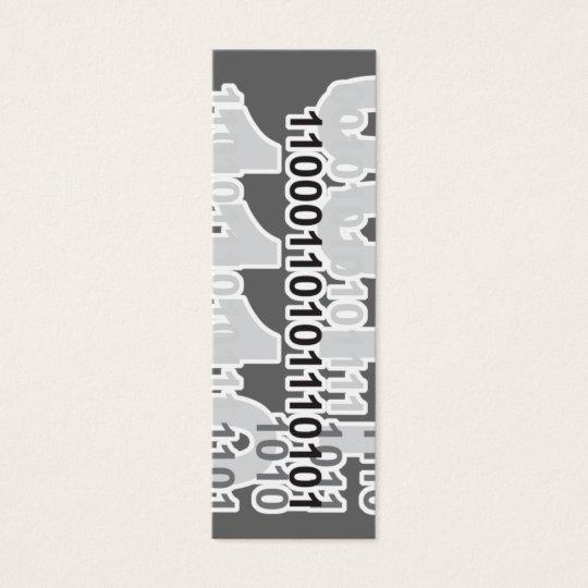 binary code bookmark mini business card