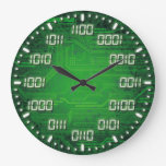 Binary Code Decorative Wall Clock at Zazzle