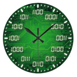 Binary Code Decorative Wall Clock
