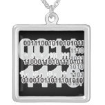 binary code design custom jewelry