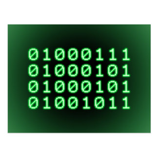 Binary code for GEEK Postcard