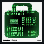 """Binary code for GEEK Wall Sticker<br><div class=""""desc"""">This product has several instances of the word GEEK written in binary code.</div>"""