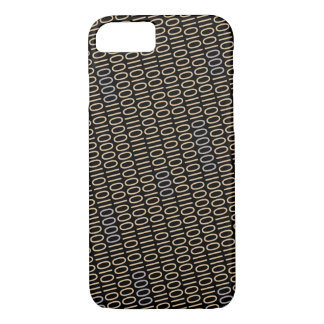 Binary Code Gray Blue Details on any Color iPhone 7 Case