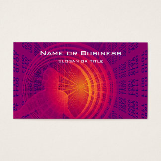 Binary Code Hi-Tech  Abstract Design Business Card