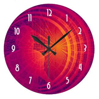 Binary Code Hi-Tech  Abstract Design Large Clock