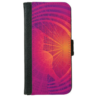 Binary Code Hi-Tech  Abstract Design Wallet Phone Case For iPhone 6/6s