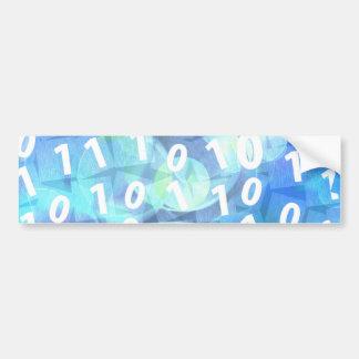 Binary Code in Blue and Purple Car Bumper Sticker