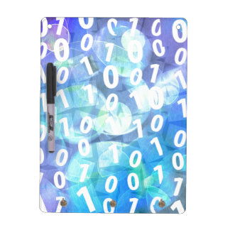 Binary Code in Blue and Purple Dry Erase Board