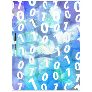 Binary Code in Blue and Purple Dry-Erase Whiteboards