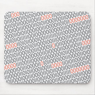 Binary Code Pattern Black Red on any Color Mouse Pad