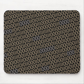 Binary Code Pattern Light Print on any Color Mouse Pad