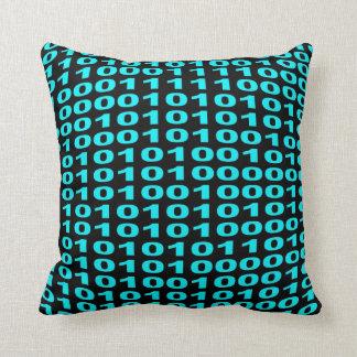 Binary code pillow