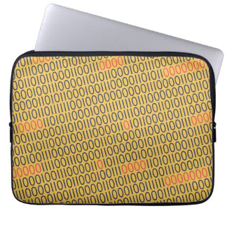 BINARY CODE red highlights on any Color Computer Sleeve