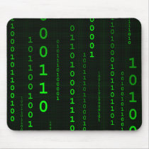 Binary Code square mousepad
