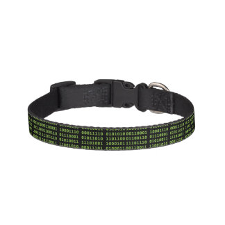 Binary Code with Screen Glow Pet Collar