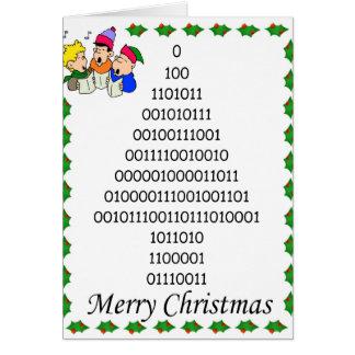 Binary geeks' Christmas tree Greeting Cards