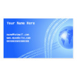 Binary Globe Background, Your Name Here, Business Card