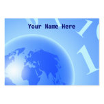 Binary Globe Background, Your Name Here Large Business Card