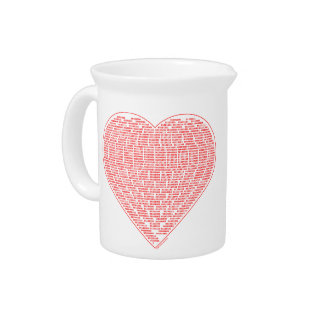 Binary Heart Beverage Pitcher