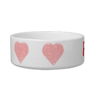 Binary Heart Pet Water Bowl