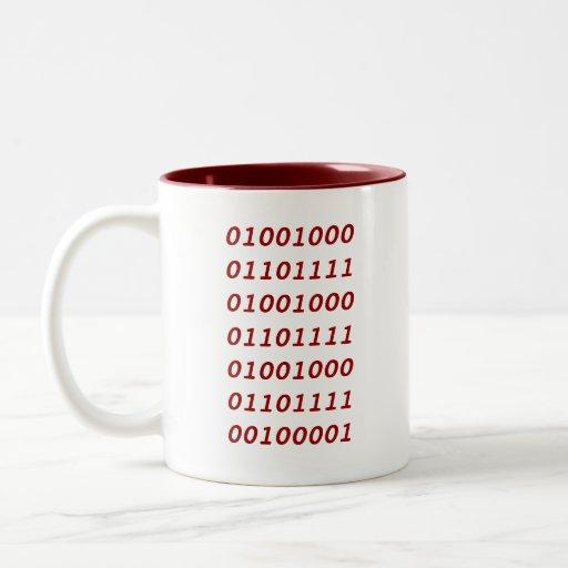 Binary Ho Ho Ho! Two-Tone Coffee Mug