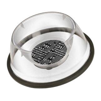 Binary in Black & White Bowl