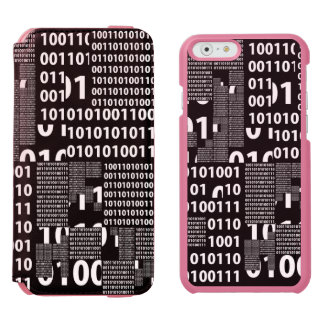 Binary in Black & White iPhone 6/6s Wallet Case
