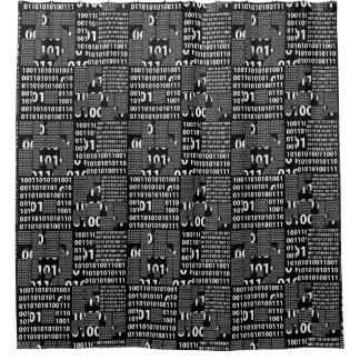 Binary in Black & White Shower Curtain