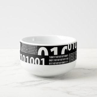 Binary in Black & White Soup Mug