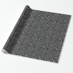 Binary in Black & White Wrapping Paper