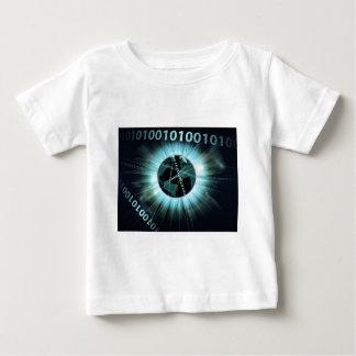 Binary information data globe t-shirt