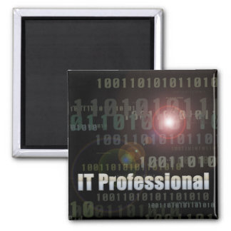 Binary IT Professional 2 Inch Square Magnet