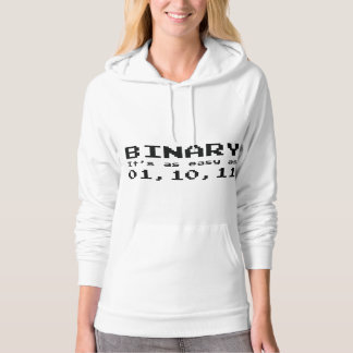 Binary It's As Easy As 01,10,11 Hoodie