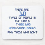 binary joke mouse pad
