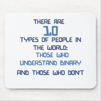 binary joke mouse pad