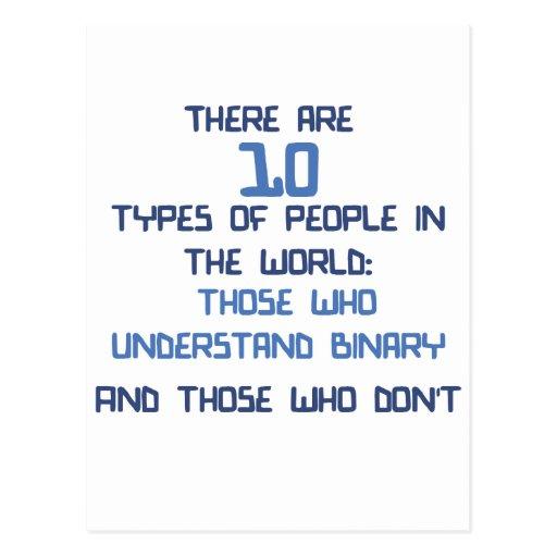 binary joke postcard