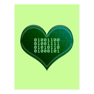 Binary LOVE Post Card